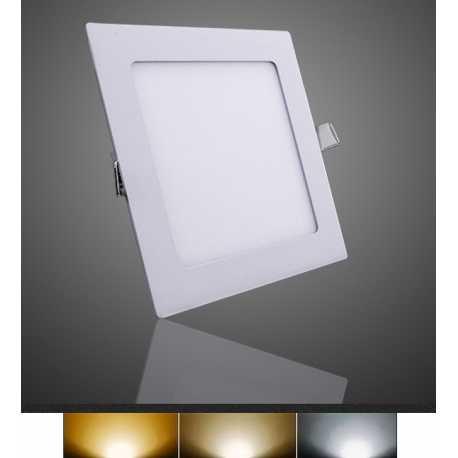 Downlight Panel Plafon LED Empotral Cuadrado 12W 3000K 4000K 6000K