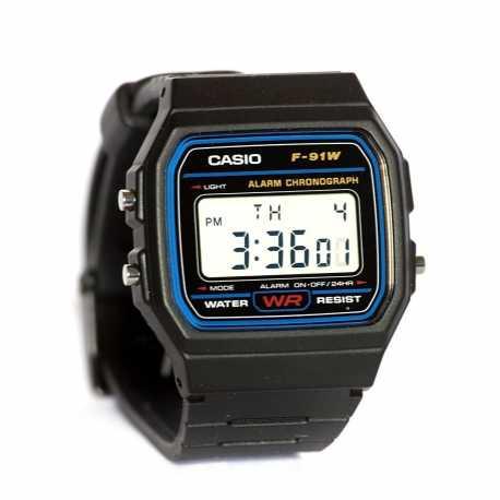 4a51ce778232 New Reloj digital Casio original f91w retro unisex Negro