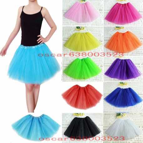 bienes de conveniencia diseñador nuevo y usado mejor elección tutu-elastico-tul-3-capas-para-nina-bebe-distintas-colores-falda-disfraz-ballet