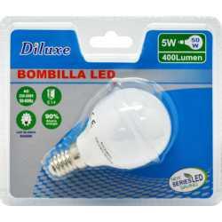 BOMBILLA LED 5W CASQUILLO FINO E14 LUZ BLANCA 6400K