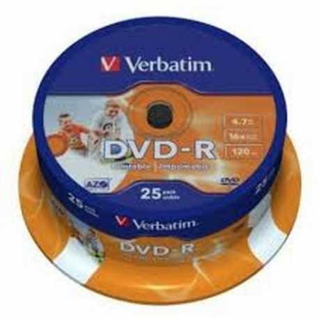 Verbatim DVD-R 16x 4.7GB Printable Tarrina 25 unds